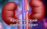 Хронический пиелонефрит почек и его лечение